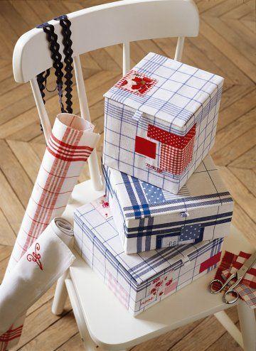 des botes de rangement pour tissus decorative storage