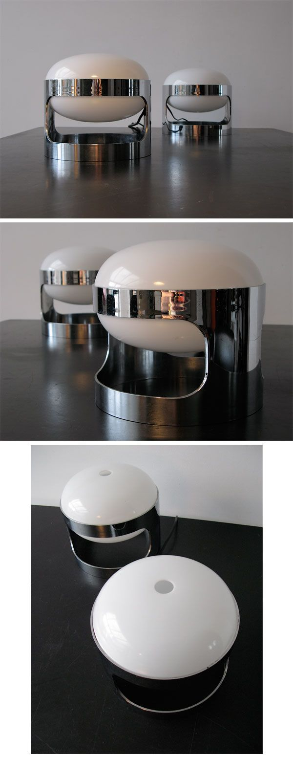 1000 ideas about joe colombo on pinterest luminaire design product - Pair Of Chrome Joe Colombo Kartell Kd 27 Table Lamps
