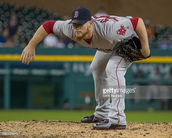 News Photo : Craig Kimbrel of the Boston Red Sox pitches in...