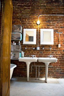 Arqteturas: Lavatório retro no banheiro