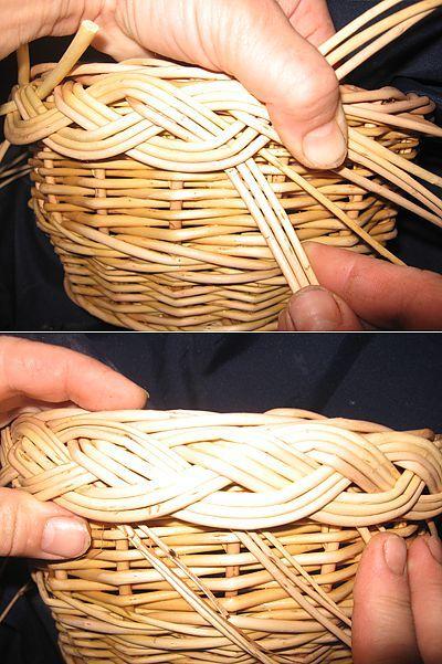 Косичка и розга | Плетение из газет | Постила