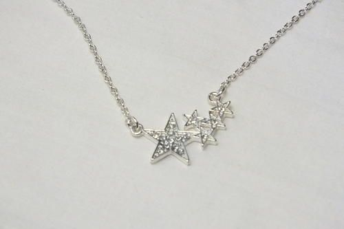 Buy Necklace Silver Colored with 5 Star Pendant 50cm for R100.00