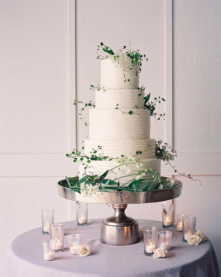 Gorgeous White Buttercream Wedding Cake