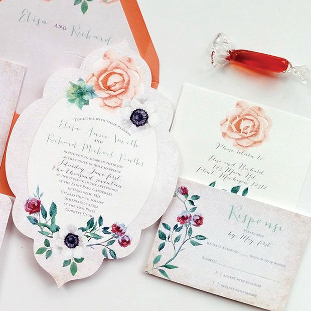 1241 best Wedding Invitations images on Pinterest Beautiful