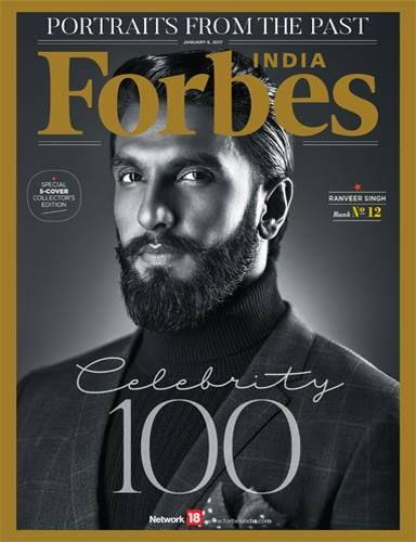 The 5-Cover 'Celebrity 100' January 2017 Issue For Forbes India Magazine