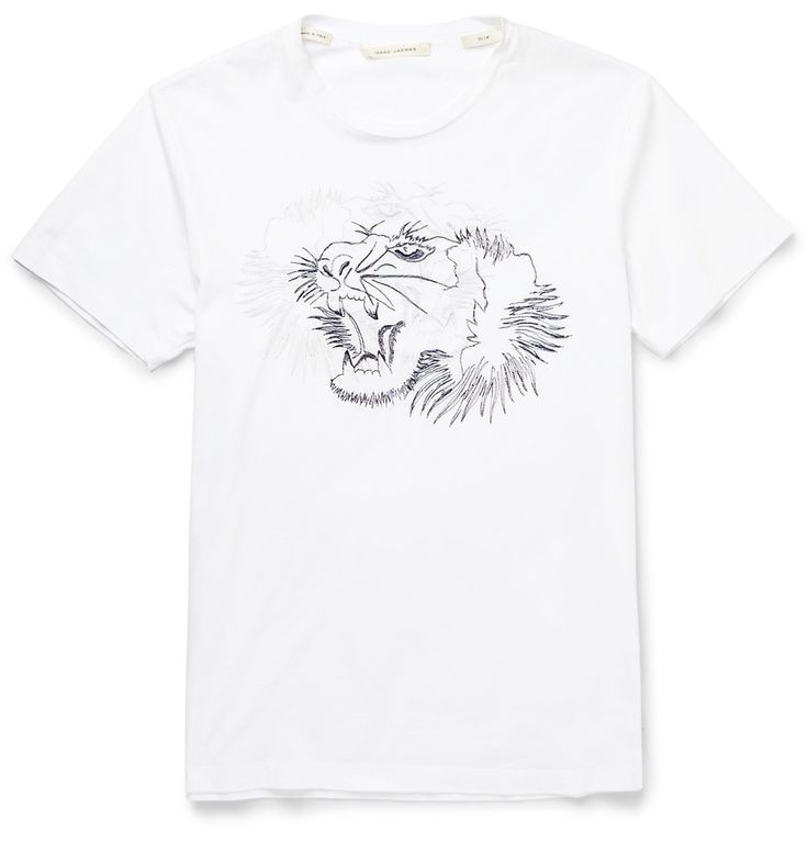 SLIM-FIT EMBROIDERED COTTON T-SHIRT MARC JACOBS