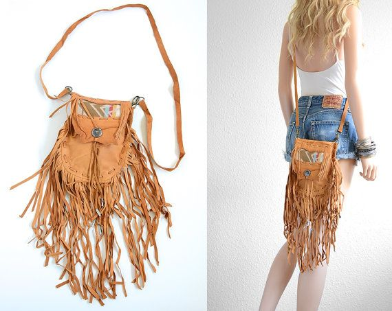 Leather Fringe Bag Texas Longhorn Crossbody Bag Leather Fringe Festival Bag Leather Fringe Boho Bag Southwestern Blanket Leather Bag Vintage