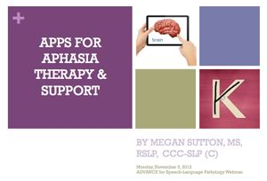 App Guides for adult speech therapy