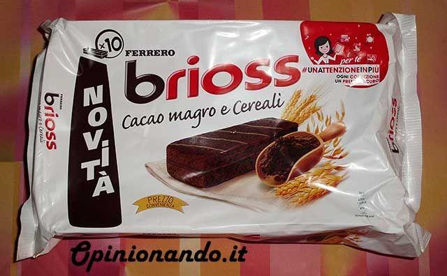 Ferrero Brioss Cacao magro e cereali Confezione - #recensione #opinionando