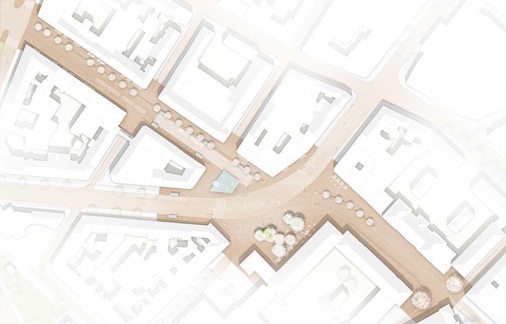 BIERBAUM.AICHELE.landschaftsarchitekten (2015): 1:250 Bahnhofstraße - Münsterplatz - Schillerstraße, Mainz (DE), via competitionline.com