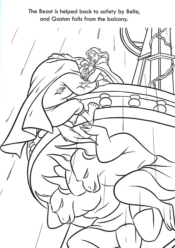 beauty and the beast coloring page   Beauty and the beast ...