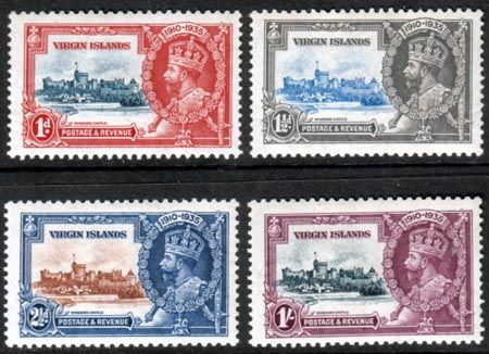 British Virgin Islands 1935 King George V Silver Jubilee Set Fine Mint SG 103 - 106 Scott 69 - 72 Other West Indies and British Commonwealth Stamps HERE!