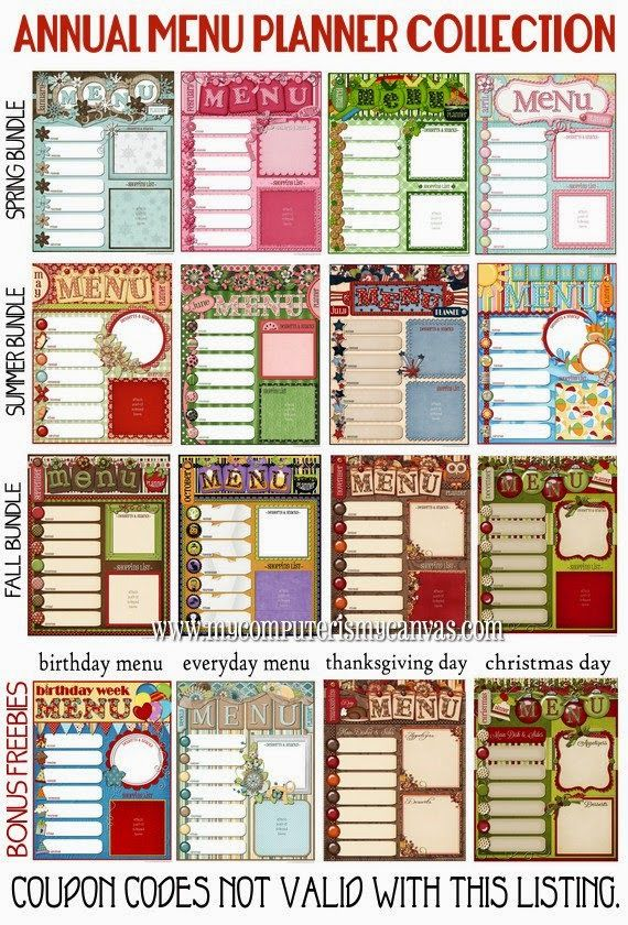 Love these monthly menus to add to the back of my planner to prepare my meals i 39 m on that wifey - Christmas menu pinterest ...