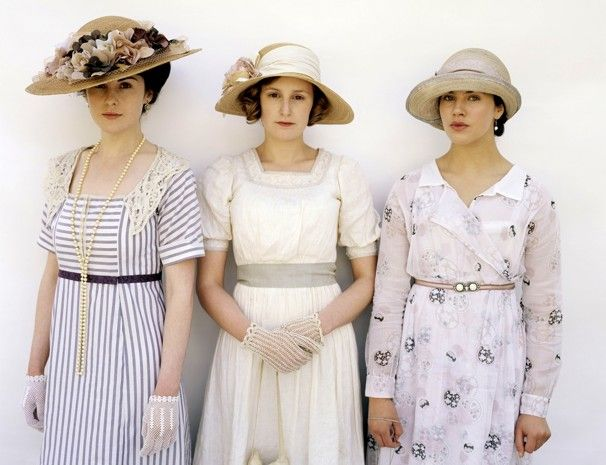 Sybil, Edith and Mary from Downton AbbeySummer Dresses, Fashion, Downtonabbey, Crawley Sisters, Downtown Abbey, Gardens Parties, Downton Abbey, Things Downton, Lady Mary
