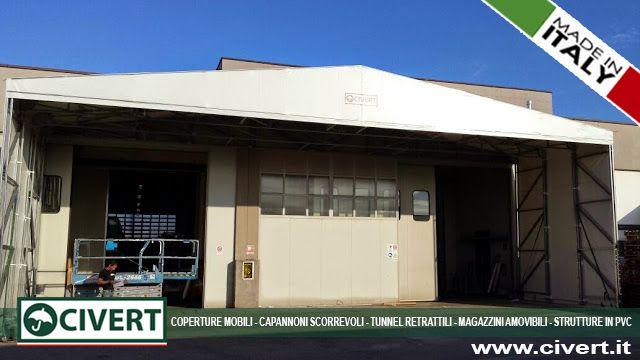 Tunnel frontale in PVC per Marelli & Berta #CoperturaMobile #Tunnel #TunnelFrontale #PVC #Logistica #Carico #Scarico #Tettoia