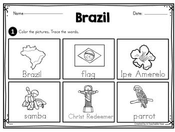 Brazil - Vocabulary Pack