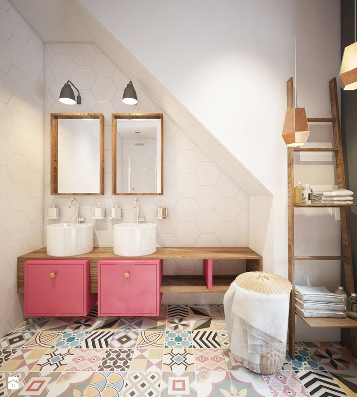 łazienka dziewczynek - zdjęcie od Finchstudio Architektura Wnętrz