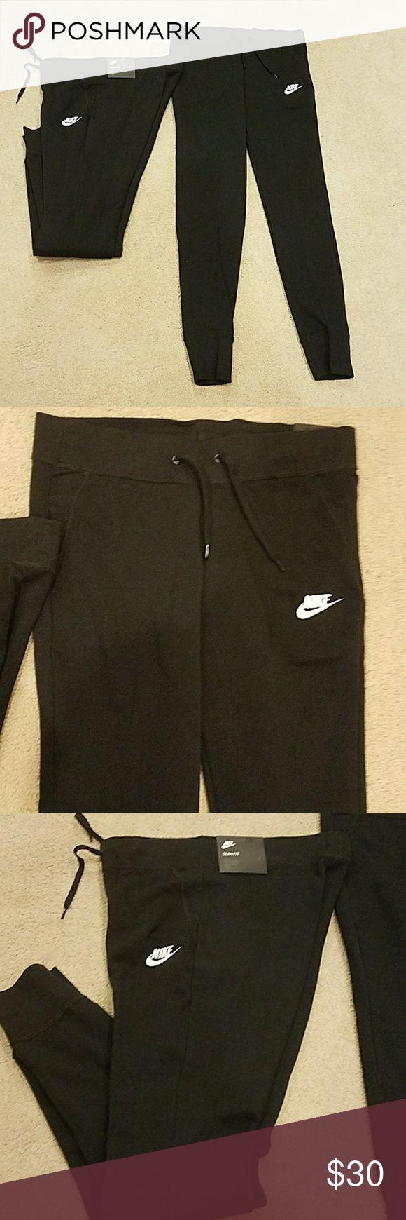 Nike Slim Fit New Black Sweats Nwt, Nike Slim Fit Black Pant. Retail 45. New, unworn perfect condition Nike Pants Track Pants & Joggers