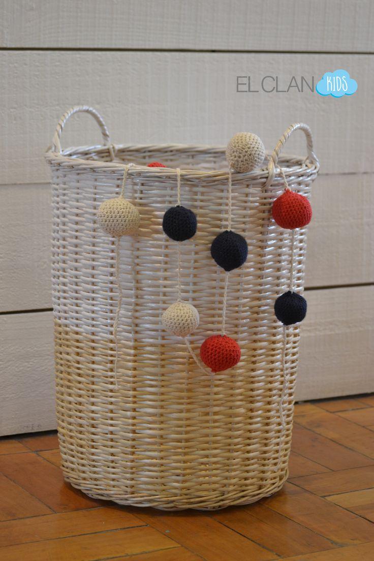 Guirnalda bolas tejida a crochet www.elclankids.cl