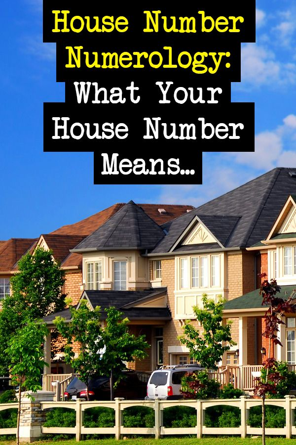 Numerology Of House Numbers