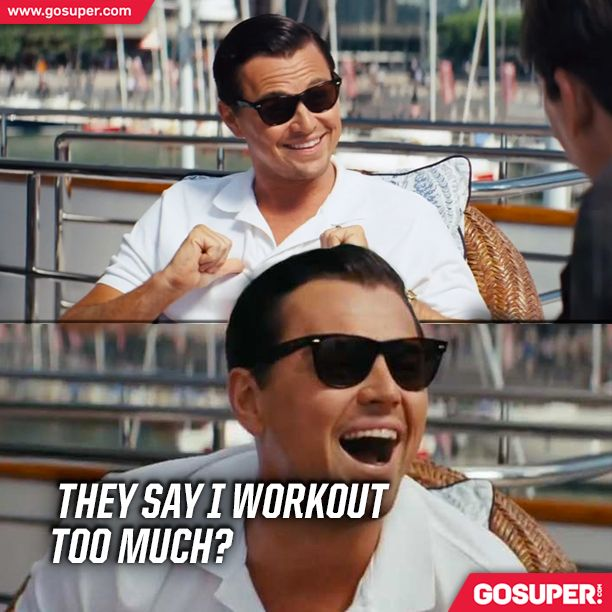 They say I workout too much? #gosuper #supplements #nutrition #sports #fitness #gym #workout #fun
