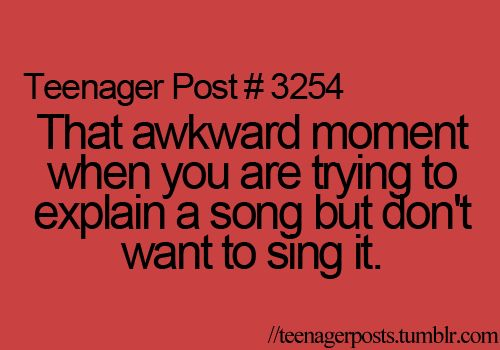 As a person who loves sharing songs but not necessarily singing them, this happens a lot to me.