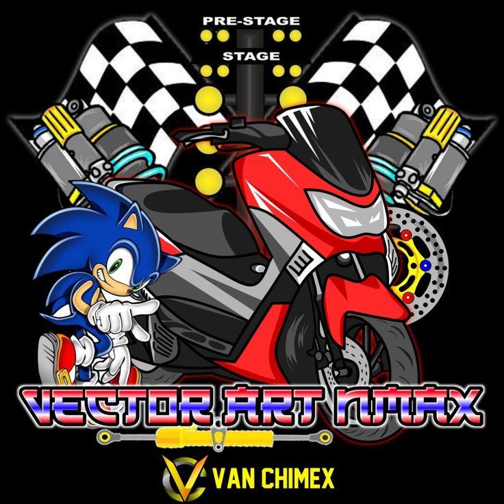 logo vector thailook vectorart design motorcyle nmax