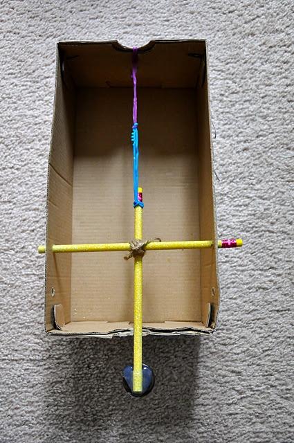 Marshmallow catapult.  @Jennette Devoe Mallow Launch made serious!
