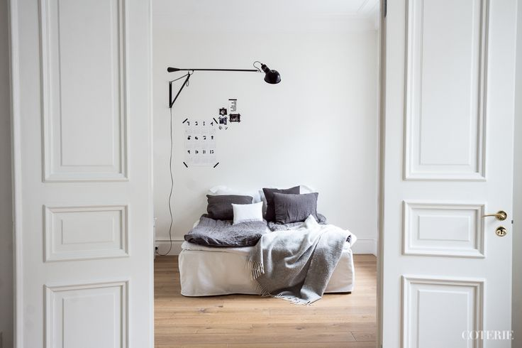 Two friends, one blog driven by a passion for fashion and interior. Join our coterie at www.coterie.fi   #Coterieofficial #Coterie #blog #interior #home #deco #decoration #decor #white #grey #Scandinavian #scandinavianstyle #scandinatiandesign #bedroom #minimalist #walllamp #Flos265 #doubledoors #bed #IKEA #bedsheets #hmhome #bedskirt #Bemz #pillowcases #Bellora1883  #ZaraHome #linensheet #Balmuir #blanket #Klippan #bedsidetable #sidetable #Bukowskismarket #coffeemug #royalcopenhagen
