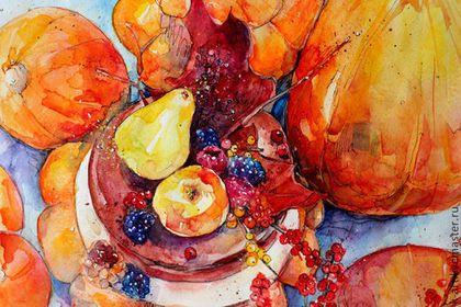 Натюрморт ручной работы. Ярмарка Мастеров - ручная работа. Купить Осенние тыквы. Handmade. Рыжий, Осенний лес, корридор, торт