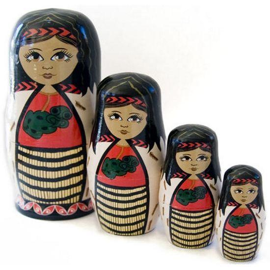 Stacking Dolls Maori Wahine