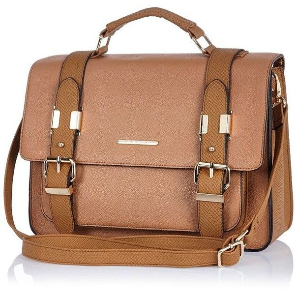 River Island Beige large satchel bag found on Polyvore