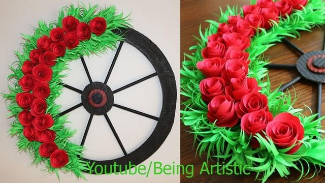 Paper Flower Wall Hanging 9 Diy Hanging Flower Wall Decoration