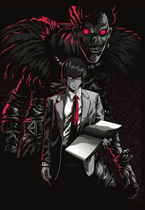 <3;-) For someone who absolutely hates anime... I'm really sad that we finished Death Note   I love Ryuk  The lineup for the live-action looks like total crap, but I'm still looking forward to it's release nonetheless