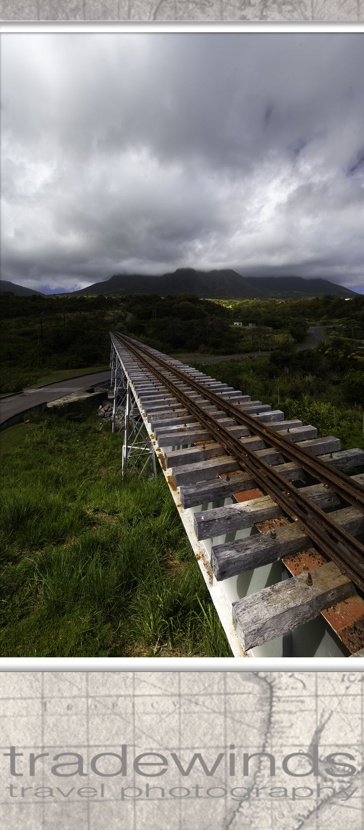Old sugarfield railway  Saint Kitts