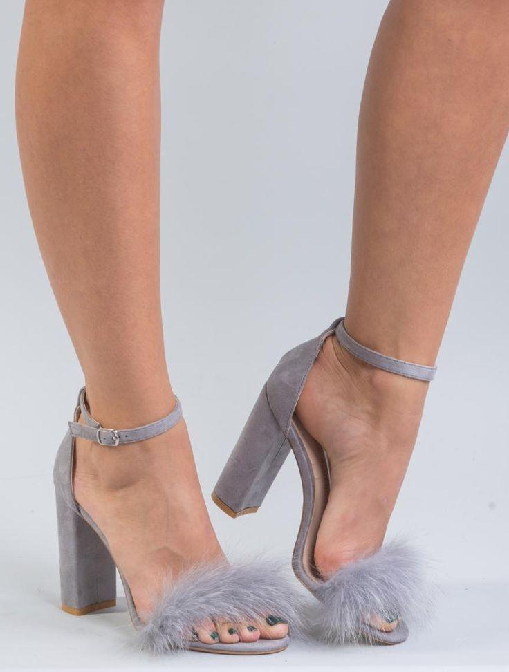 Gray fur heels     #grey #fur #heels #shoes #realfur #fox #realfox  #haute #style #accessories #fashion