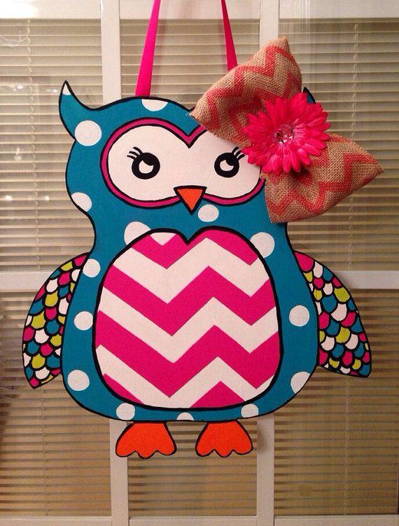 Wooden Owl Door Hanger  on Etsy, $35.00