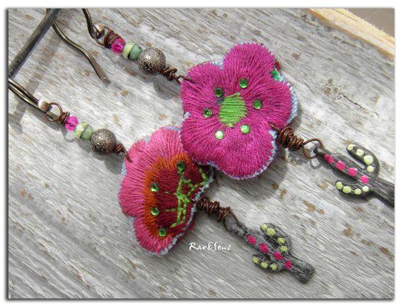Boucles d 39 oreillemon jardin exotikcristal par rareetsens for Jardin francais jewelry