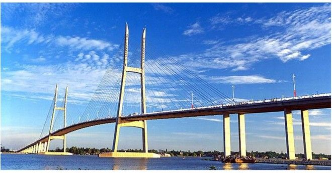 My Thuan is a cable-stayed bridge over the Mekong river, connecting Cai Be District of Tien Giang province with Vinh Long City in Vinh Long province