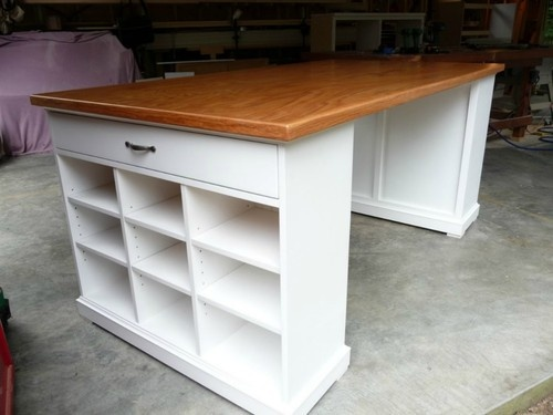 Custom project table craft table kitchen island hand made in usa view