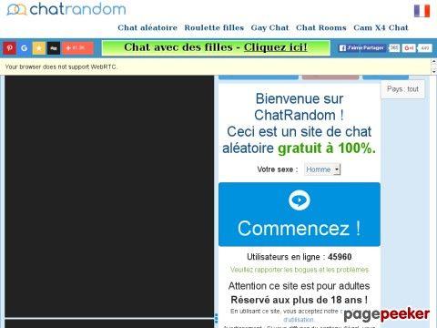 site chatrandomcom chat et webcam gratuit sans inscription comme chatroulette et bazoocam