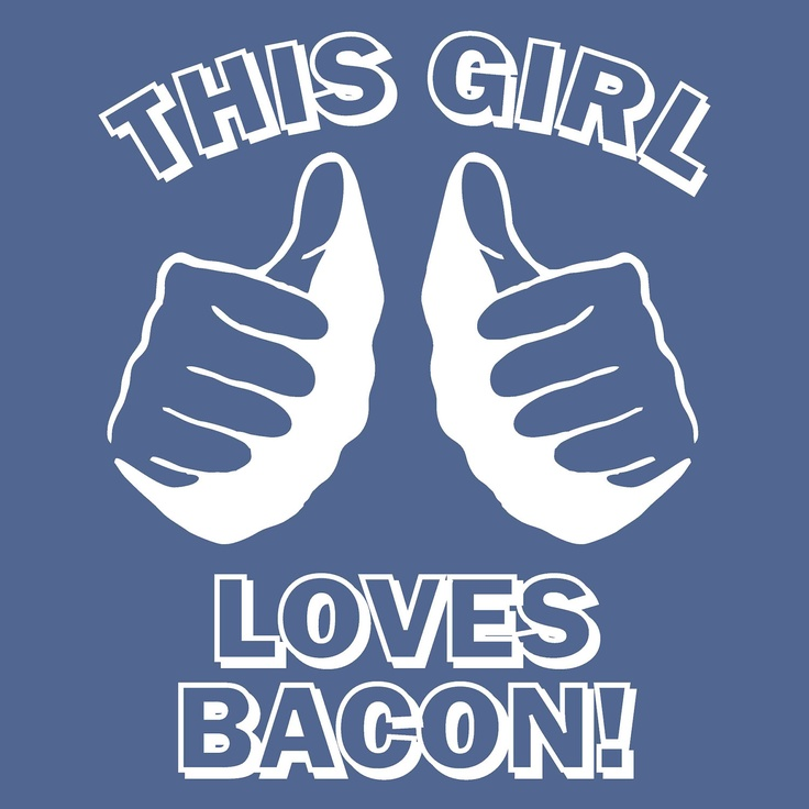 funny t shirt This GIRL LOVES BACON T Shirt Navy. $12.00, via Etsy.