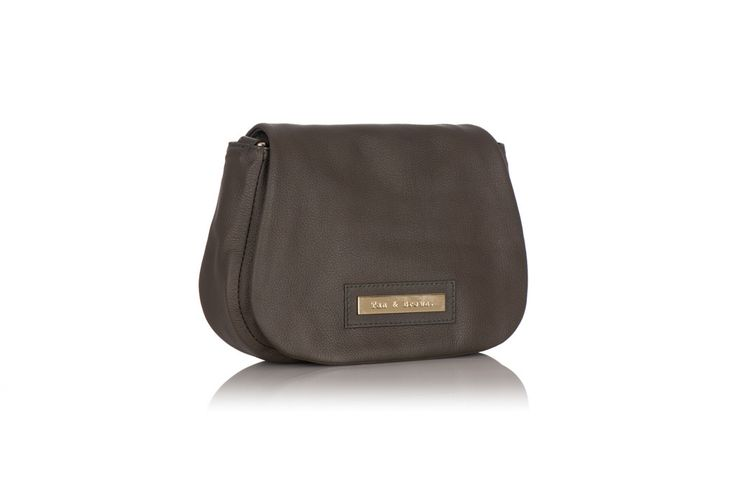 Tan and Brown Cross Body Bag in Black Cowhide – Tan & Brown