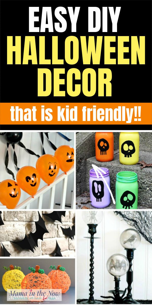 Easy Diy Kid Friendly Halloween Decor In 2020 Kid Friendly Halloween Decorations Easy Diy Halloween Decorations Fun Halloween Decor