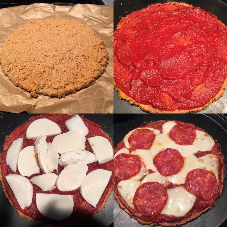 Sweet potato pepperoni pizza