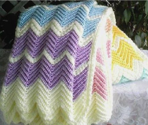 Rainbow Ripple Afghan Free Pattern Crochet For Children