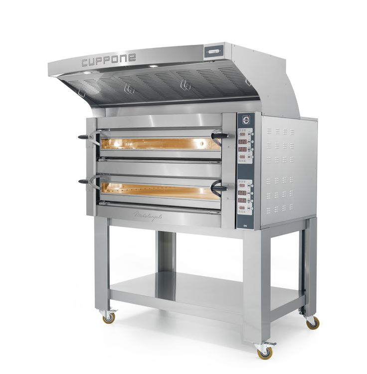 The Cuppone Michelangelo Electric Oven has State of the Art features: 100 programmable settings, top and bottom heating elements, Cordierite decks and more.