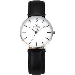 OBAKU Mark Lille - black // stainless steel watch with a black leather strap