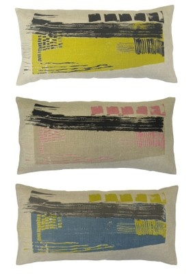 "Laura Slater- ""Concrete"" collection - hand screen printed cushions"