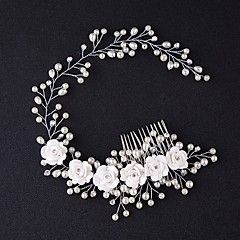 $5.99 Handmade Headband With Vine Gorgeous Floral Pearl Crystal Hair Comb Bridal Tiara Head Jewelry Wedding Hair Accessories